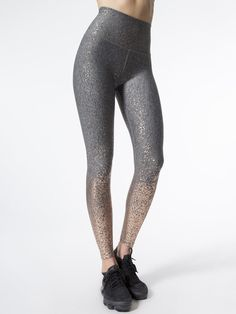 cca43292b02d8d Beyond Yoga Alloy Ombre High Waisted Midi Legging Black Leggings, Women's  Leggings, Tights,
