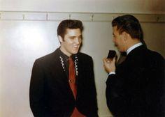 Backstage in San Francisco on October 26, 1957