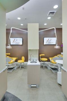 High-pitched Dental Office Names Dental Office Decor, Medical Office Design, Healthcare Design, Clinic Interior Design, Clinic Design, Design Offices, Modern Offices, Dental Cabinet, Dental Design