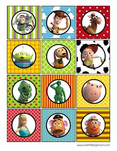 Story Party Printables To use in lunch boxes on picks.CupcakeTopper Toy Story Party Printables GrizzleTo use in lunch boxes on picks. Fête Toy Story, Toy Story Theme, Toy Story Birthday, Toy Story Party, Boy Birthday, Disney Toys, Walt Disney, Toy History, Imprimibles Toy Story