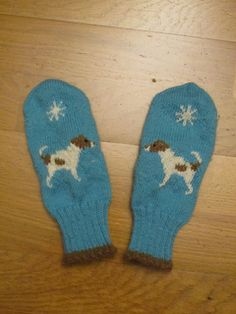 absolutely adorable Jack Russell mittens!