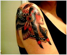 Love this native american girl tattoo, something similar