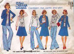 Vintage Wide Leg Pants Skirt Tank Top and by 2goodponiesvintage, $4.00