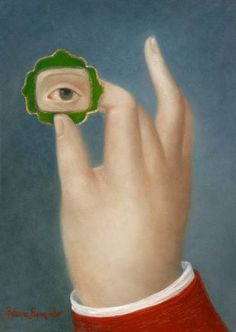 Hand with Lover's Eye in Green Jewel / Fatima Ronquillo