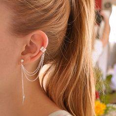 ES667 Bijoux Leaf  Earrings Leaves Clip Ear Cuff Earring For Women Wedding Jewelry Brincos boucle d'oreille Wholesale