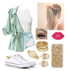 """As if!!!"" by elliethemunchkin on Polyvore featuring beauty, NLY Trend, Alexander Wang, WithChic, Converse, Michael Kors, Carolee, ABS by Allen Schwartz and Lime Crime"