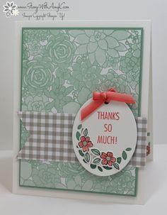 I used the Stampin' Up! That's the Tag bundle from the upcoming 2017 Occasions Catalog to create my card to share today. My card design was inspired by Hand Stamped Sentiments #254. I s…