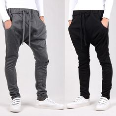 Online Shop 2014 New men pant sport joggers slim fit harem pants hip hop bandana pants outdoors jogging, sweatpants drop crotch pants men Drop Crotch Pants Men, Ropa Hip Hop, Fashion Outfits, Mens Fashion, Style Fashion, Sport Pants, Swagg, Lounge Wear, Harem Pants