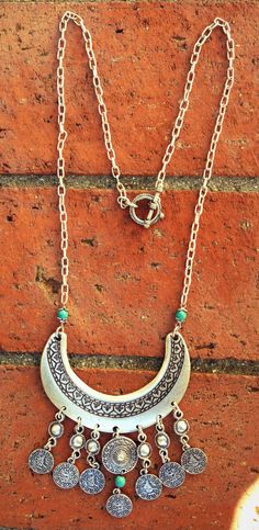 Boho Jewelry///Boho Ethnic Necklace With Turkish Coins by NadzJewelryBox on Etsy, $25.00