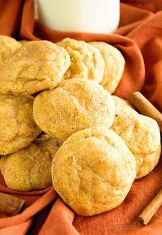 Tasty recipe for Pumpkin Snickerdoodle Cookies!