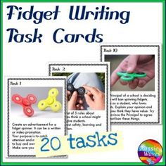 Grade / Year Level :: Primary Education :: Year 3 - 6 :: WRITING PROMPTS Task Cards FIDGET IMAGES to Stimulate ideas Writing Varied Genre