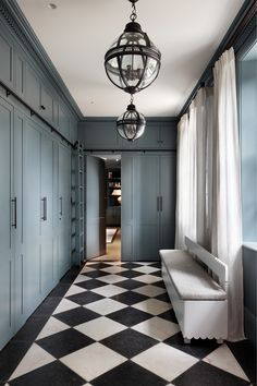 Checkerboard Floor, Victorian Terrace House, Interior Fit Out, World Of Interiors, Interior Decorating, Interior Design, Home And Family, New Homes, Flooring