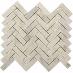 Splashback Tile Oriental Sculpture Herringbone 12 in. x 12 in. x 8 mm Marble Mosaic Floor and Wall Tile, Grays