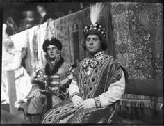 Very rare photograph of Prince Felix Yusupov , along Prince Christopher of Greece and Denmark in costume .