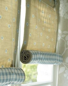 Made To Measure Swedish Blinds - Patterned, Striped Or Plain. Kitchen & Bathroom - Vanessa Arbuthnott