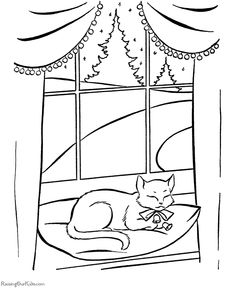 Pete the Cat Coloring Page Best Of Winter Cat Coloring Pages Pete the Cat Saves Christmas Santa Coloring Pages, Puppy Coloring Pages, Cat Coloring Page, Coloring Pages For Kids, Coloring Books, Colouring, Christmas Puppy, Christmas Animals, Christmas Cats