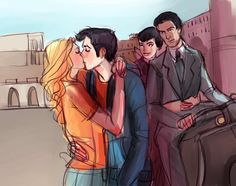 Percy Jackson and Annabeth Chase in The Mark of Athena. I love this. I love this SO muchXx