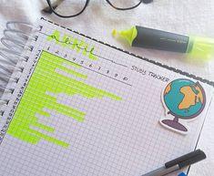 """Nas minhas andanças pelo @pinterestbr  encontrei esse """"study tracker"""" , e como adorei a ideia, fiz esse esboço pra mostr..."""