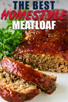 meatloaf recipes If youre looking for a classic meatloaf recipe with a ketchup and Worcestershire sauce, this is it! My mom and has been making this recipe for years. It makes the best, tender, moist meatloaf. Perfect for Sunday dinner! Good Meatloaf Recipe, Meat Loaf Recipe Easy, Best Meatloaf, Meat Recipes, Cooking Recipes, Recipes For Meatloaf, Ground Pork Meatloaf, Meatloaf With Bbq Sauce, Classic Meatloaf Recipe Easy