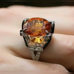 @katerina_perez ! Ring with an amazing Mandarin garnet gem with fantastic color, one of the kind #pureitaliantouch #carlobarberis #unique #mandaringarnet #amazing #stone #handmadejewellery #since1929 #special #ring