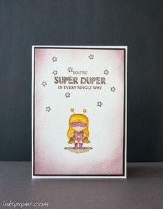 Mama Elephant Tiny Heroes Card Idea