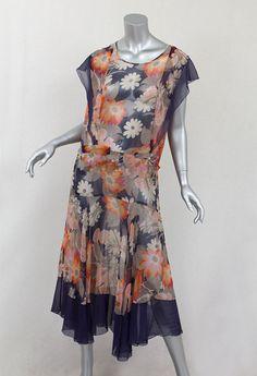 Floral Chiffon Dress c1929-1932  http://vintagetextile.com/new_page_19.htm