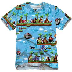 Sonic Sublimation Men's Graphic Tee: Men : Walmart.com