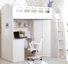 Twin+Loft+Bed+with+desk | Other Amazing Gallery of Loft Bed with Desk Chair 2…