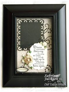 Our Daily Bread Designs, July Release, Sharing Your Sorrow  Memories Shadow Box Frame