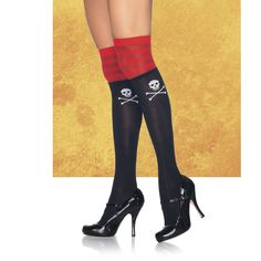 Pirate Thigh Highs - New Age, Spiritual Gifts, Yoga, Wicca, Gothic, Reiki, Celtic, Crystal, Tarot at Pyramid Collection
