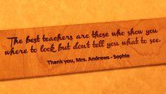 Custom Gift for Teacher Ruler Engraved by DarkHorseEngraving