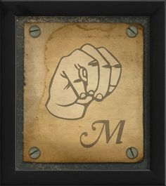 Sign M Framed Graphic Art