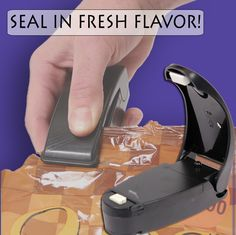 USB Rechargable Smart Sealer. Do away with chip clips and seal your bags the easy way! Preserve freshness and save space in your kitchen.