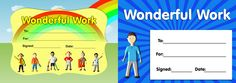Download our twin pack of 'Wonderful Work' certificates. www.teachingessentials.co.uk/store.html