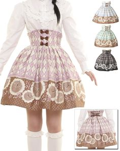 Lolibrary | Bodyline - Skirt - Antique Clock High Waist Skirt (l305)