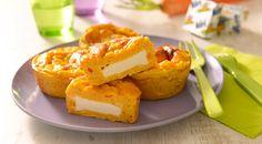 Découvrez cette délicieuse entrée: un flan de carottes au coeur de kiri