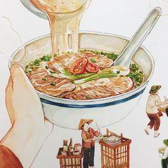 58 Trendy ideas for illustration art cartoon artworks Cute Food, I Love Food, Food Sketch, Watercolor Food, Food Painting, Food Illustrations, Illustration Art, Food Drawing, Aesthetic Food
