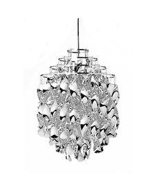"""Min super flotte """"prisme"""" lampe A-M Spiral SP01 Sølv - Verner Panton - Verpan"""