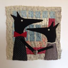 Original appliqué and embroidery textile art by NaomiHutchinsonArt, £28.00
