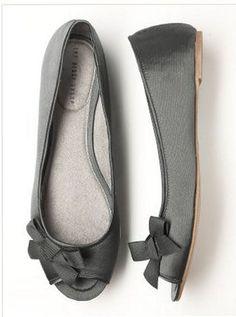 Peep Toe Ballet Shoes