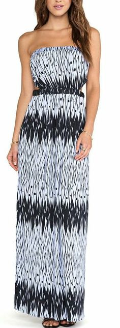 T-Bags Strapless Maxi Dress
