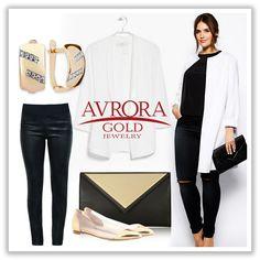 Утонченный #Look от AVRORA GOLD на каждый день с нашими штампованными серьгами    #AvroraGold #Jewelry #fashion #girls #style #gold #серьги