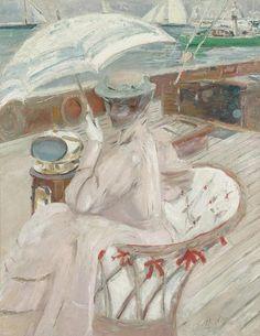 Madame Helleu sur son yacht L'Étoile (ca. 1898-1900) by Paul César Helleu