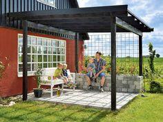 overdækket terrasse trapez-plader
