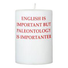 palenotology pillar candle