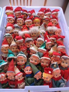 Yay!! It's Christmas again! Remember these elves found on soap/detergent containers?