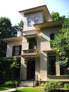 Emily Dickinson Museum - Wikipedia, the free encyclopedia  Home of Austin Dickinson, next door.