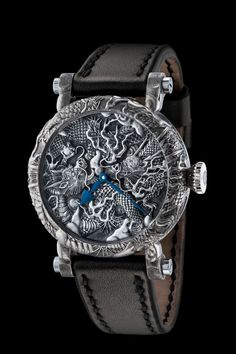 Watchmaker Peter Speake-Marin and three specialist engravers created the Kennin-ji Temple Masters Project, which features ornately engraved dragons inspired by the Kennin-ji Temple in Japan. - branded watches for men low price, mens watch store, best men watches *ad
