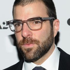 Zachary Quinto - semi transparent glasses