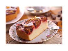 Rebarborovo-slivkový koláč